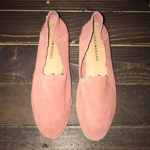 Lucky Brand Suede slip ons